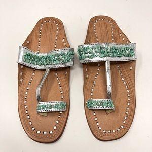 Nougat London | Genuine Leather Turquoise Sandal